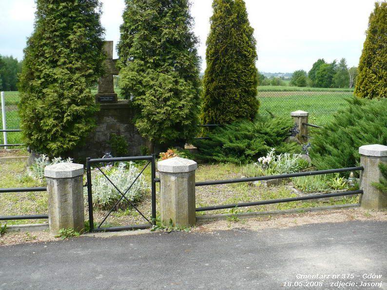 Cmentarz wojenny z I wojny nr 375 - Gdów (cm. parafialny)