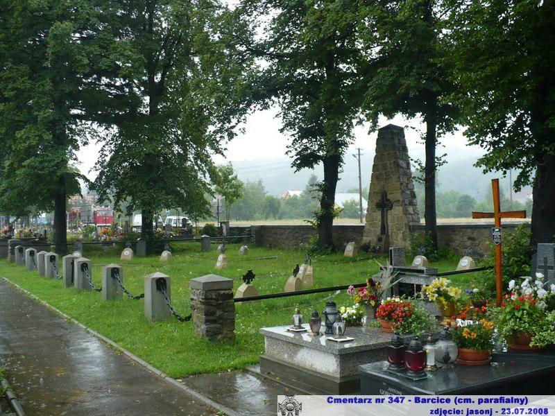 Cmentarz wojenny z I wojny nr 347 - Barcice (cm. parafialny)