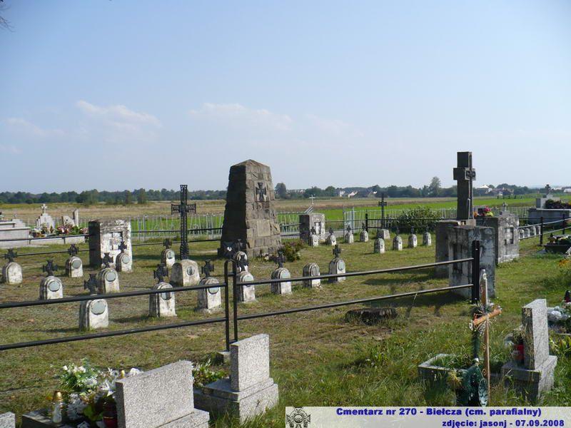 Cmentarz wojenny z I wojny nr 270 - Bielcza (cm. parafialny)