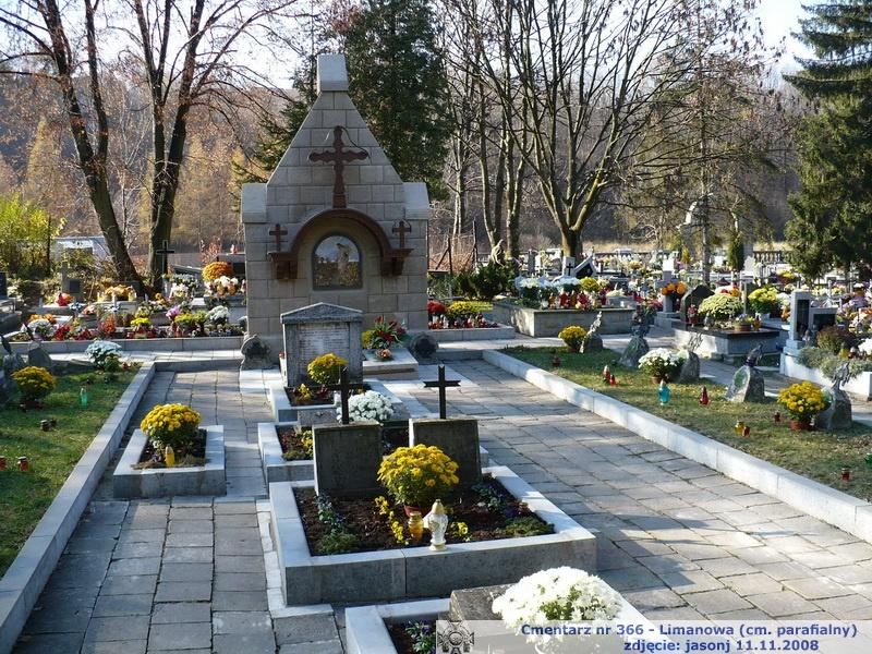 Cmentarz wojenny z I wojny nr 366 - Limanowa (stary cm. paraf.)