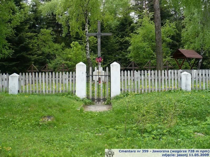 Cmentarz wojenny z I wojny nr 359 - Jaworzna (szczyt wzgórza Korab)