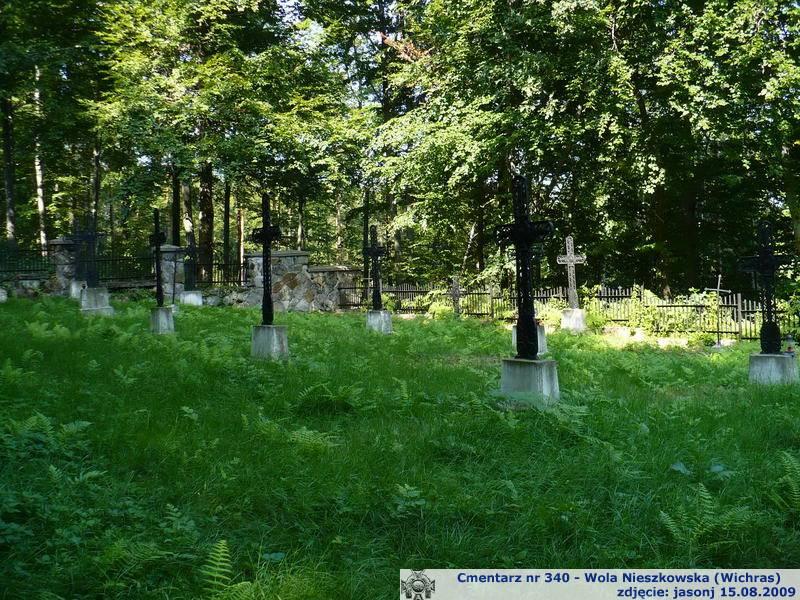 Cmentarz wojenny z I wojny nr 340 - Wola Nieszkowska (Wichras)