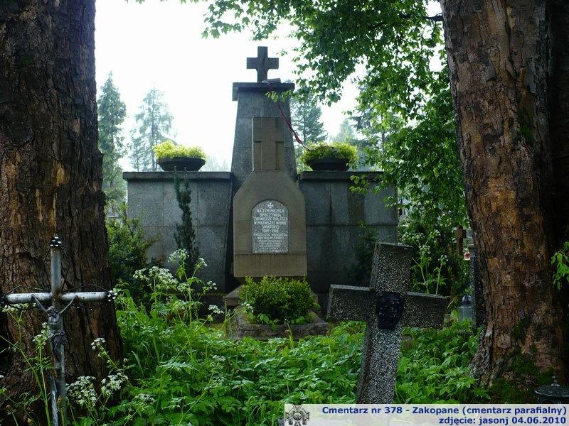 Cmentarz wojenny z I wojny nr 378 - Zakopane (cm. parafialny)