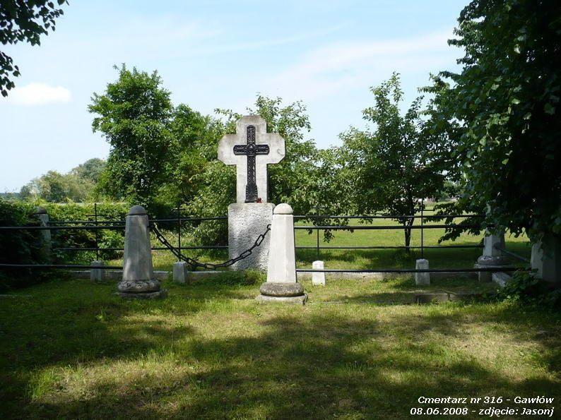 Cmentarz wojenny z I wojny nr 316 - Gawłów - (cm. ewangelicki)