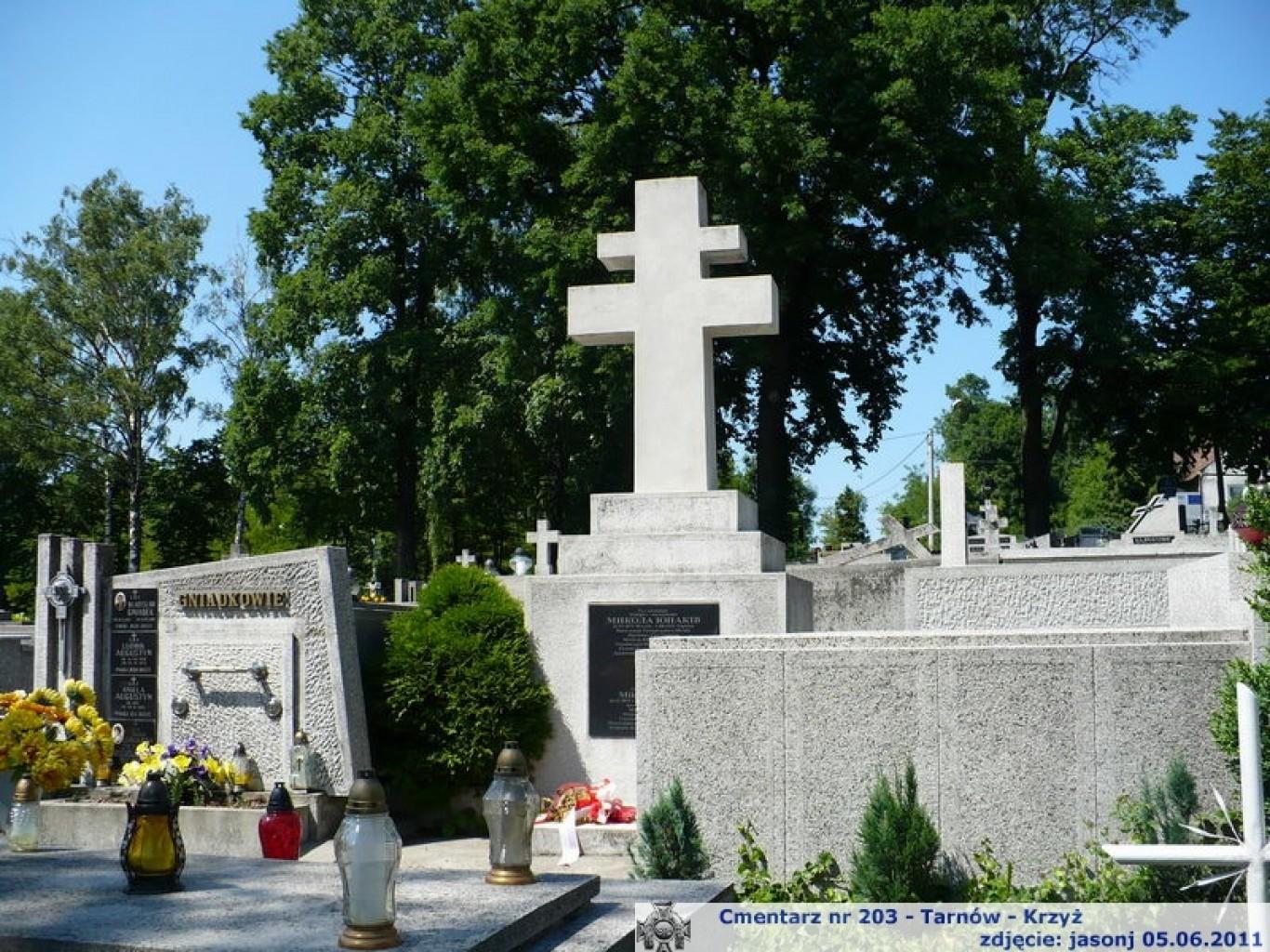 Cmentarz wojenny z I wojny nr 203 - Tarnów - Krzyż (cm. komunalny)