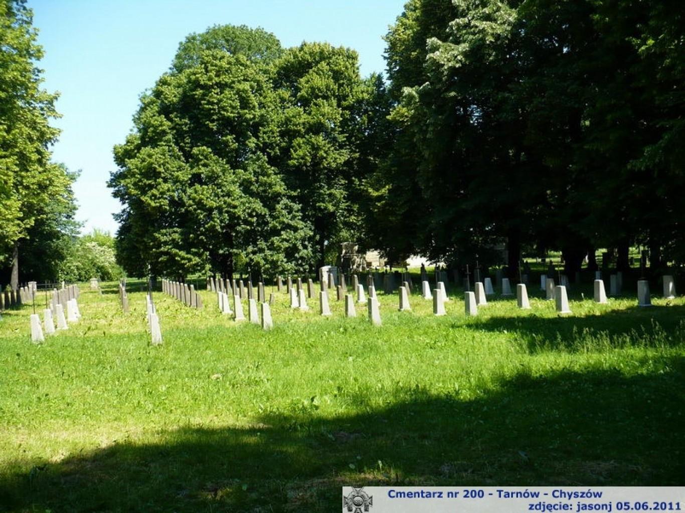 Cmentarz wojenny z I wojny nr 200 - Tarnów - Chyszów