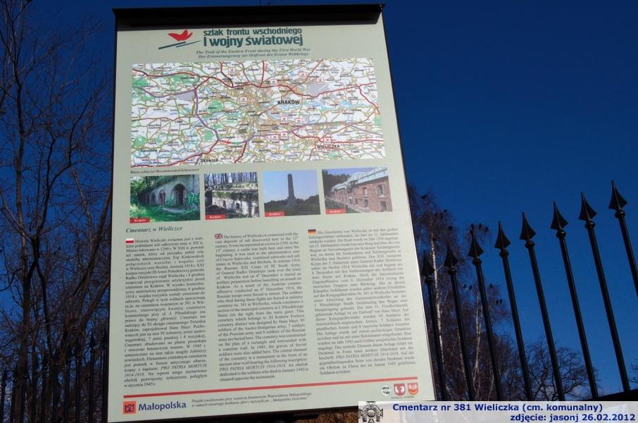Cmentarz wojenny 381 na szlaku Frontu Wschodniego I wojny światowej