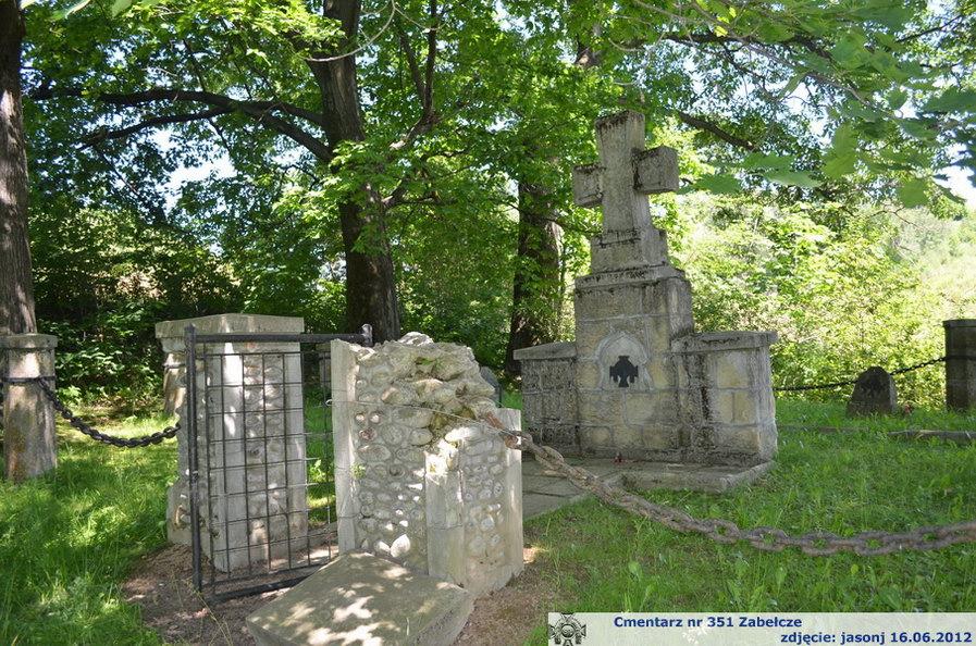 Cmentarz wojenny z I wojny nr 351 - Zabełcze