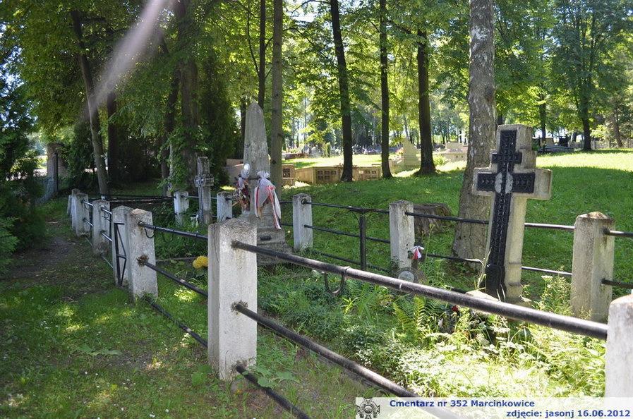 Cmentarz wojenny z I wojny nr 352 - Marcinkowice