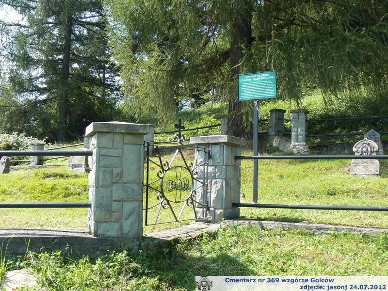 Cmentarz wojenny z I wojny nr 369 - wzgórze Golców - Stara Wieś