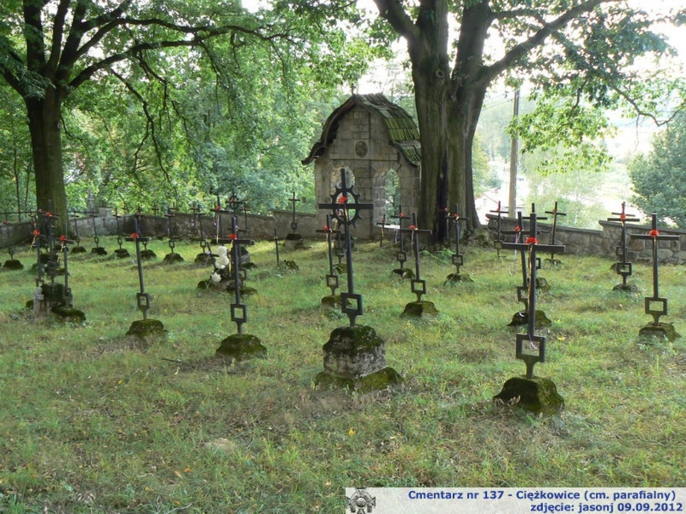 Cmentarz wojenny z I wojny nr 137 - Ciężkowice - cmentarz parafialny