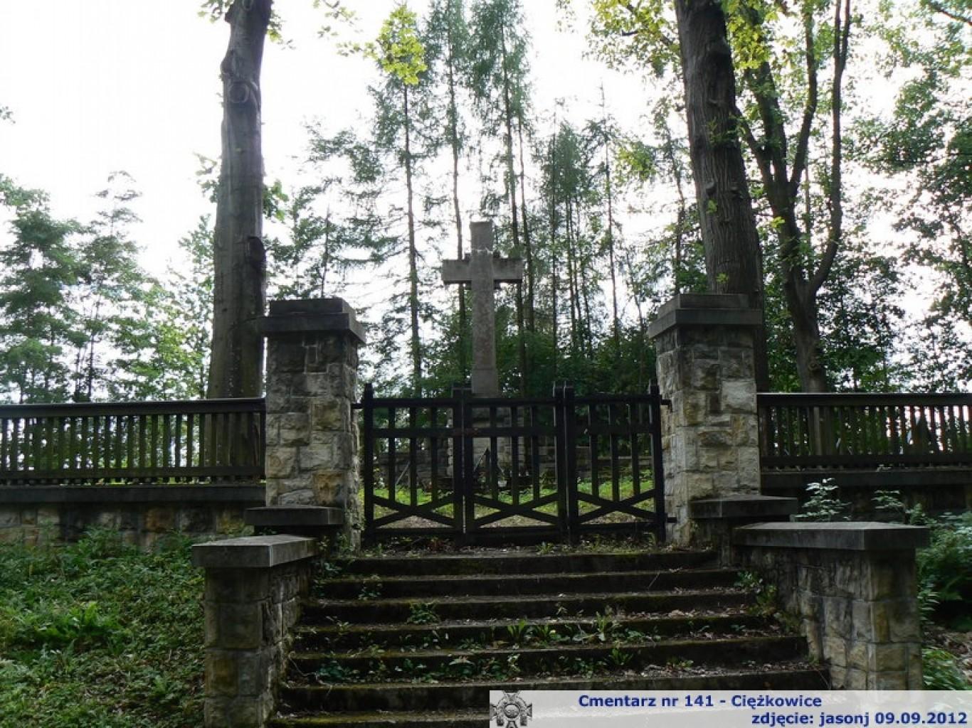 Cmentarz wojenny z I wojny nr 141 -Ciężkowice
