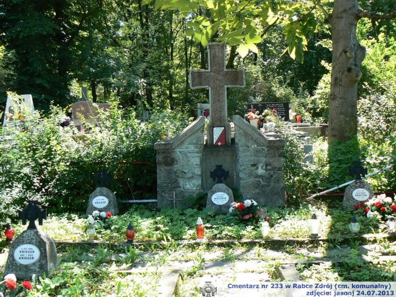 Cmentarz wojenny z I wojny nr 233 - Rabka Zdrój