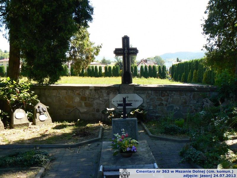 Cmentarz wojenny z I wojny nr 363 - Mszana Dolna (cm. parafialny)