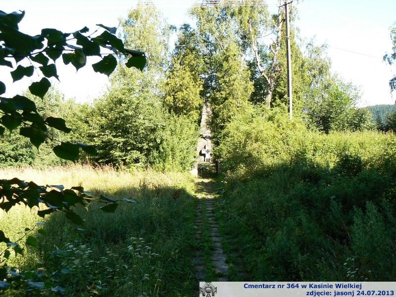 Cmentarz wojenny z I wojny nr 364 - Kasina Wielka (obok stacji kolejowej)