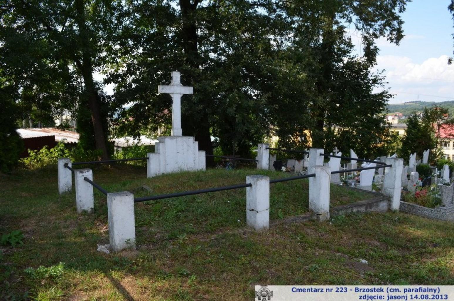 Cmentarz wojenny z I wojny nr 223 - Brzostek (cm. parafialny)
