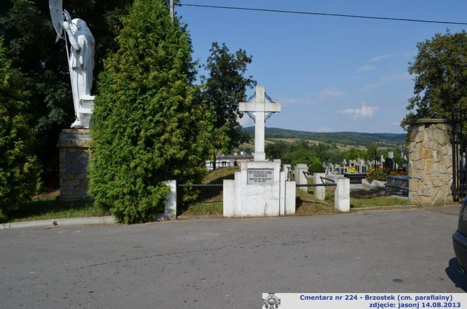 Cmentarz wojenny z I wojny nr 224 - Brzostek (cm. parafialny)
