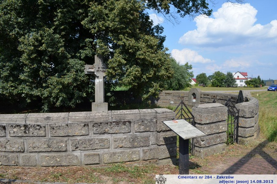 Cmentarz wojenny z I wojny nr 284 - Zakrzów