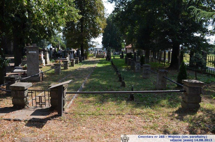 Cmentarz wojenny z I wojny nr 285 - Wojnicz (cm. parafialny)