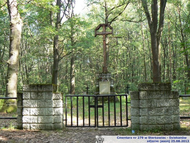 Cmentarz wojenny z I wojny nr 279 - Sterkowiec - Dziekanów