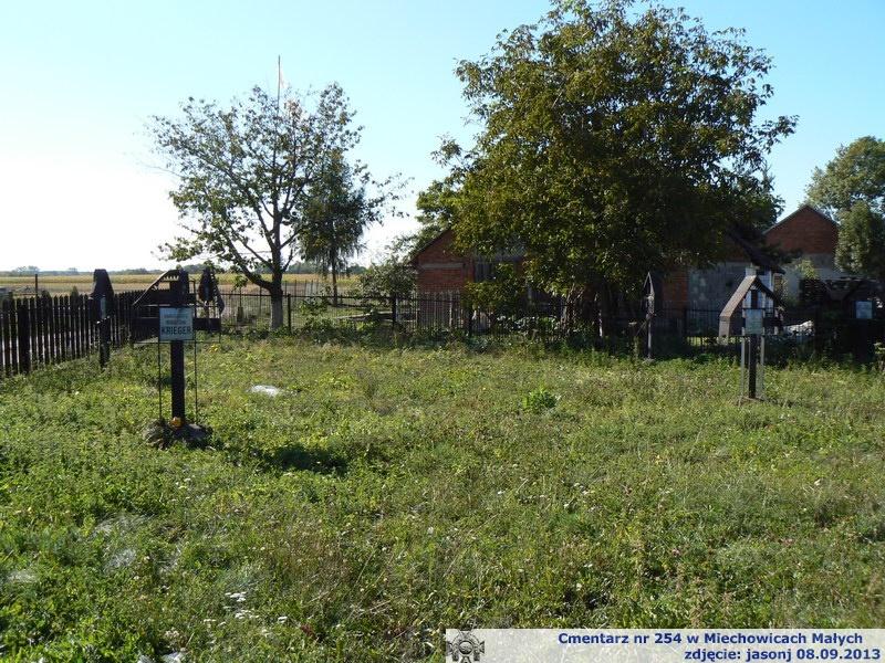 Cmentarz wojenny z I wojny nr 254 - Miechowice Małe