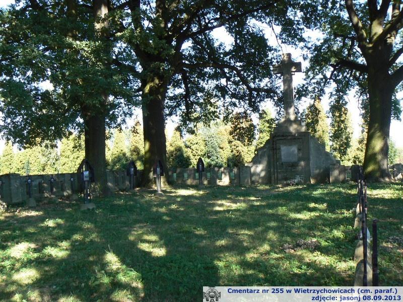 Cmentarz wojenny z I wojny nr 255 - Wietrzychowice (cm. paraf.)