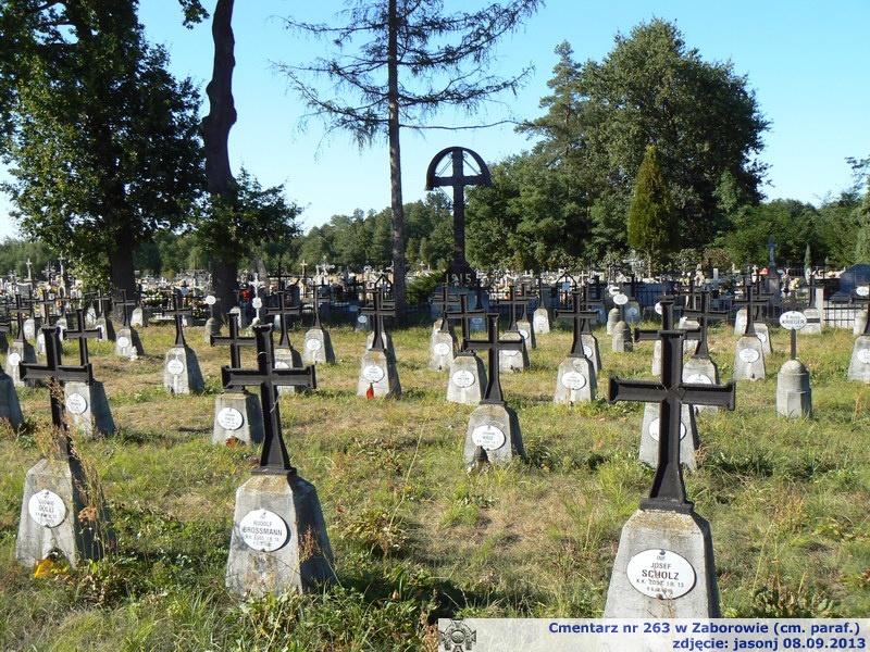 Cmentarz wojenny z I wojny nr 263 - Zaborów (cm. paraf.)