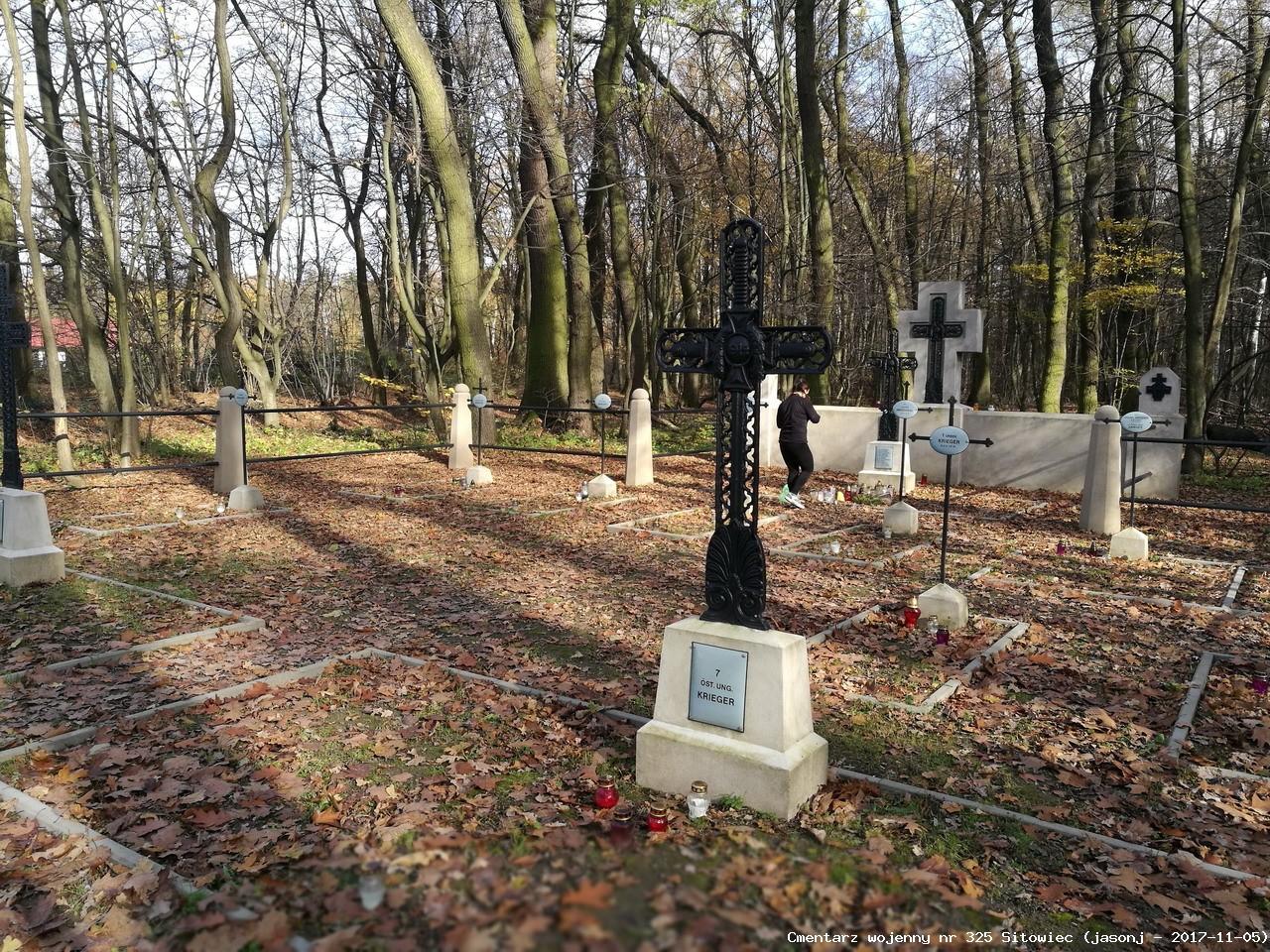 Cmentarz wojenny z I wojny nr 325 - Niepołomice - Sitowiec