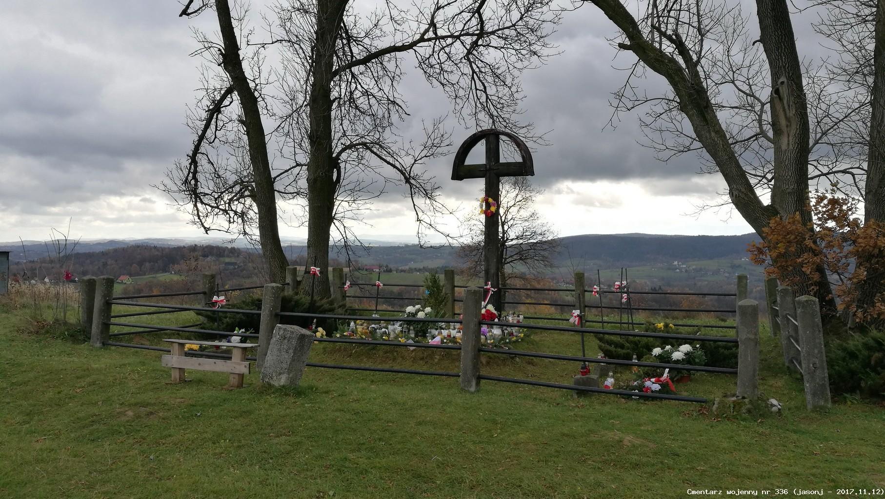 Cmentarz wojenny z I wojny nr 336 - Gierczyce-Czyżyczka
