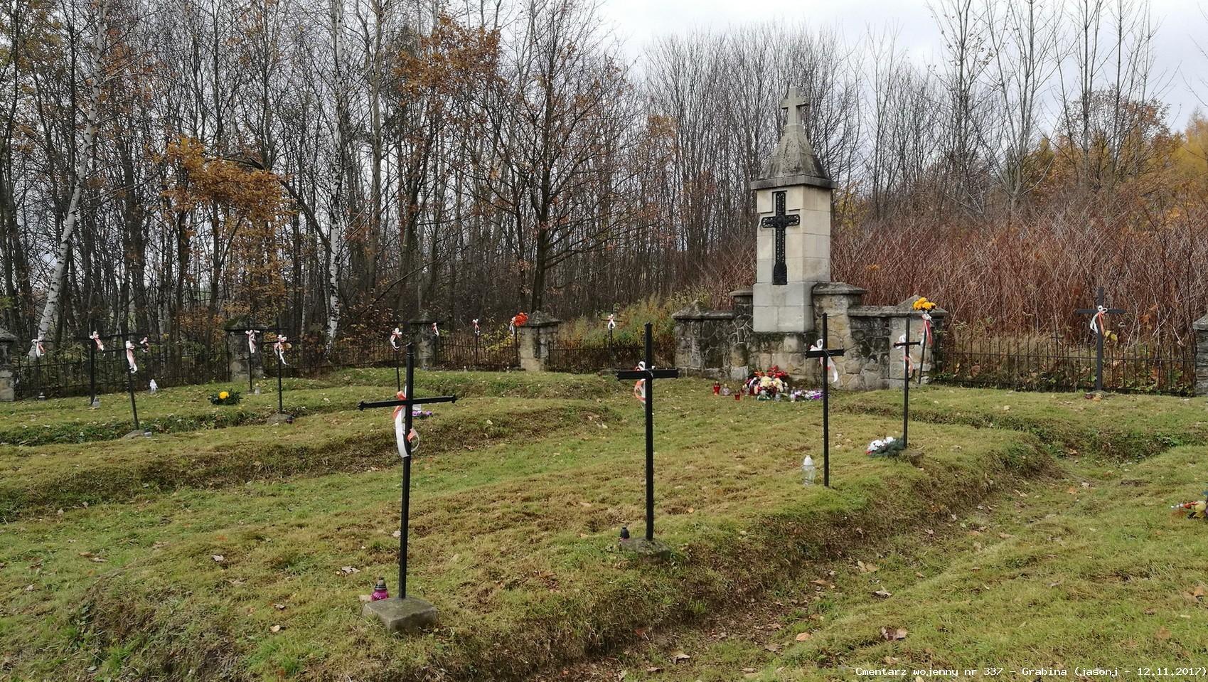 Cmentarz wojenny z I wojny nr 337 - Grabina