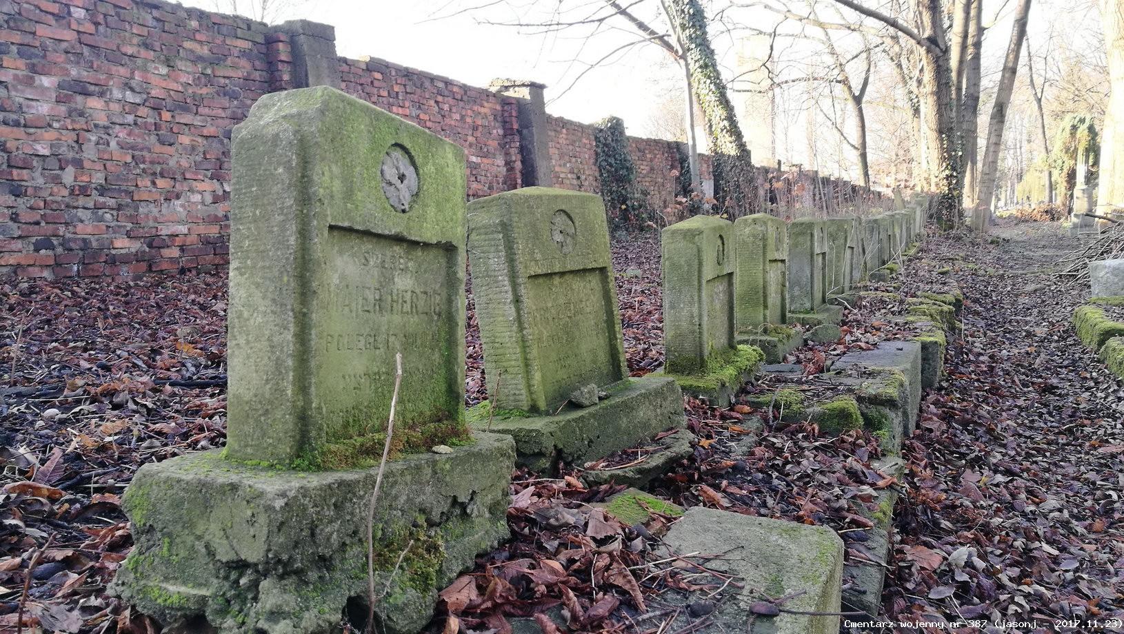 Cmentarz wojenny z I wojny nr 387 - Kraków (kirkut żydowski)