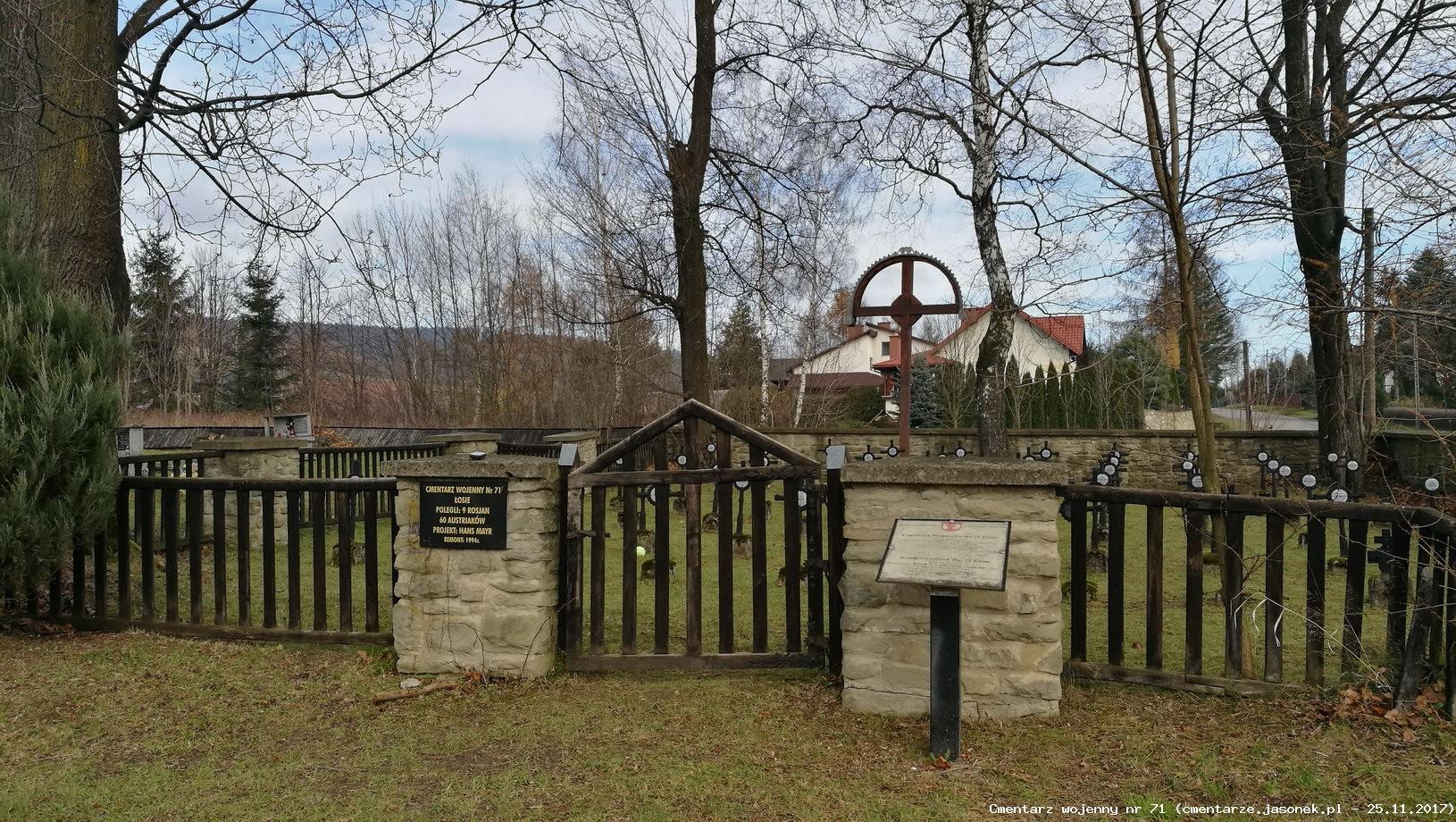 Cmentarz wojenny 71 - Łosie (cm. parafialny)