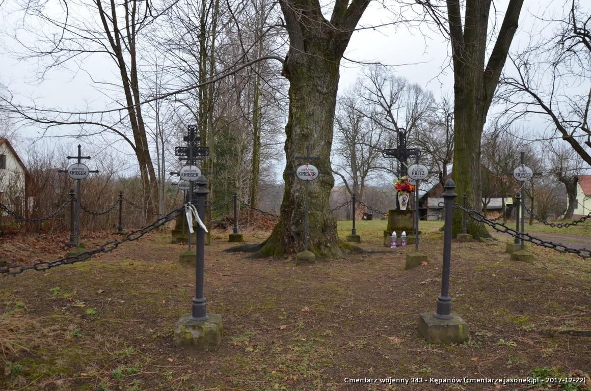Cmentarz wojenny z I wojny nr 343 - Kępanów