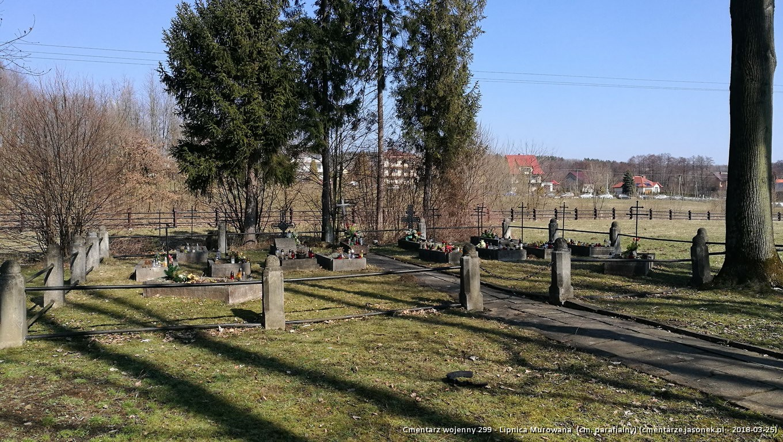 Cmentarz wojenny z I wojny nr 299 - Lipnica Murowana (cm. parafialny)