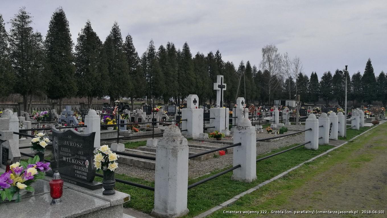 Cmentarz wojenny z I wojny nr 322 - Grobla (cm. parafialny)