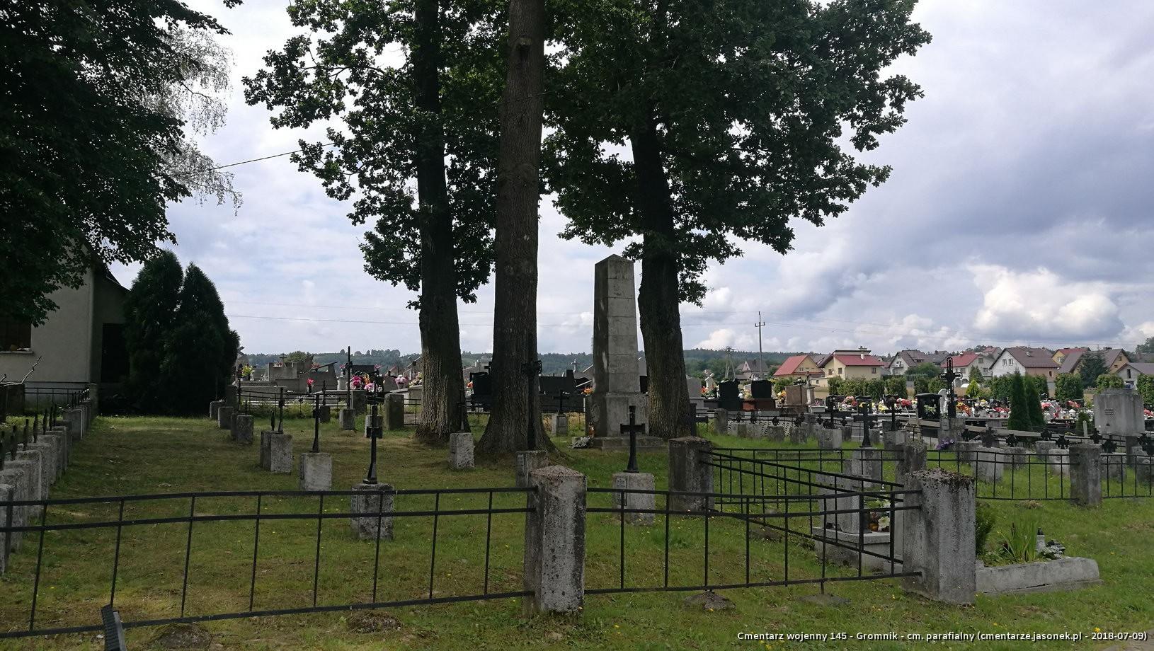 Cmentarz wojenny 145 - Gromnik - cm. parafialny
