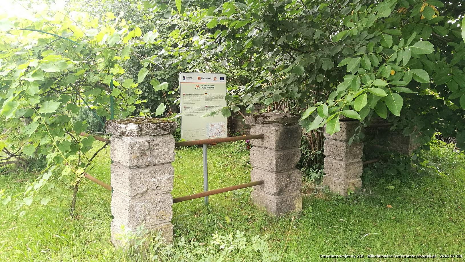 Cmentarz wojenny 216 - Mikołajowice