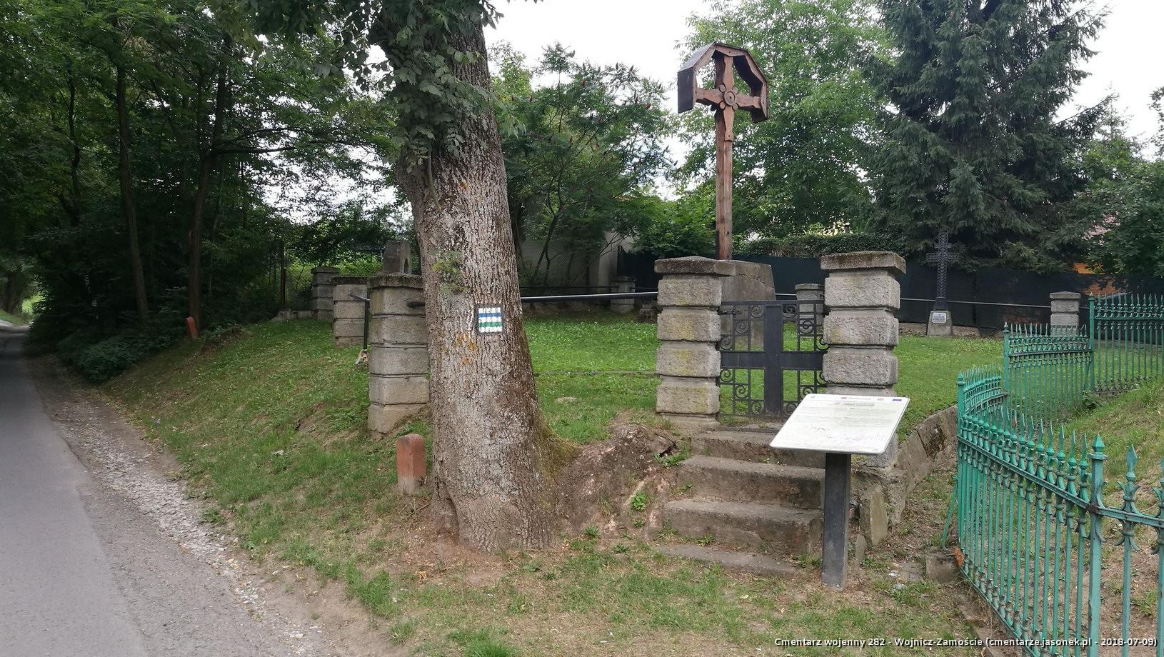 Cmentarz wojenny z I wojny nr 282 - Wojnicz-Zamoście