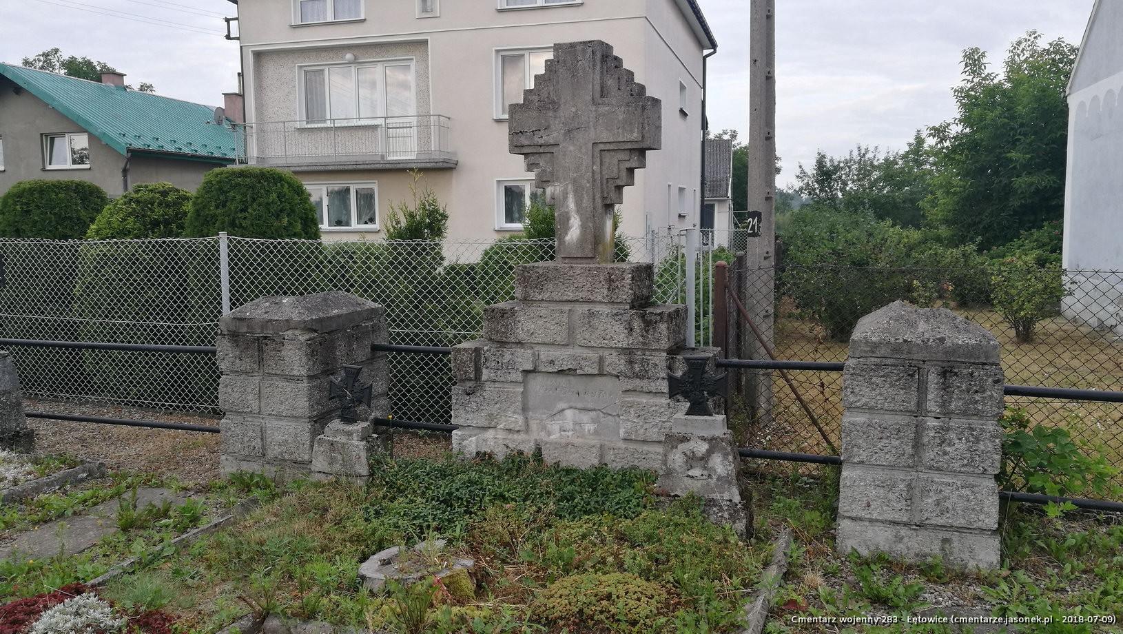 Cmentarz wojenny z I wojny nr 283 - Łętowice