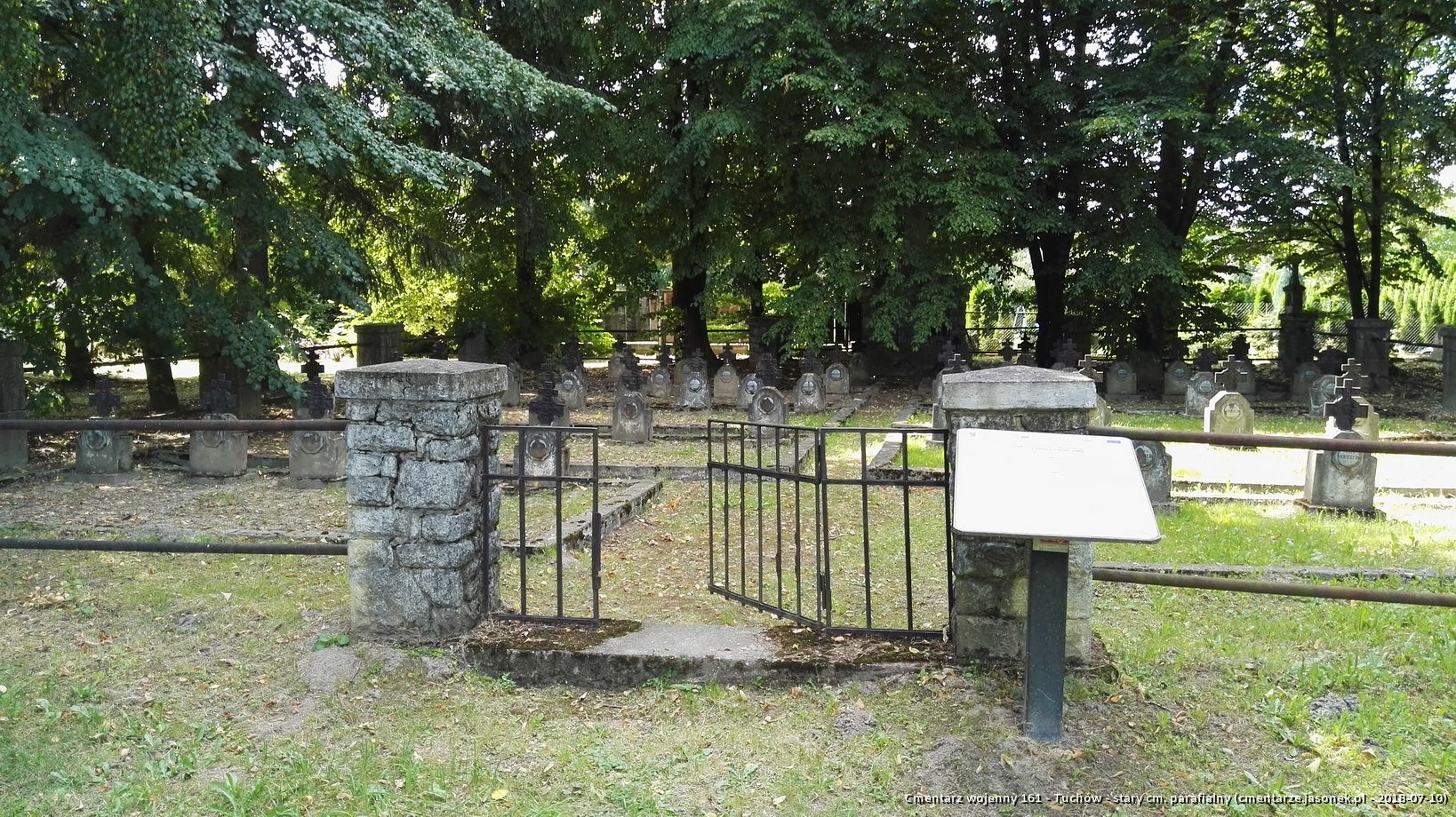 Cmentarz wojenny 161 - Tuchów - stary cm. parafialny