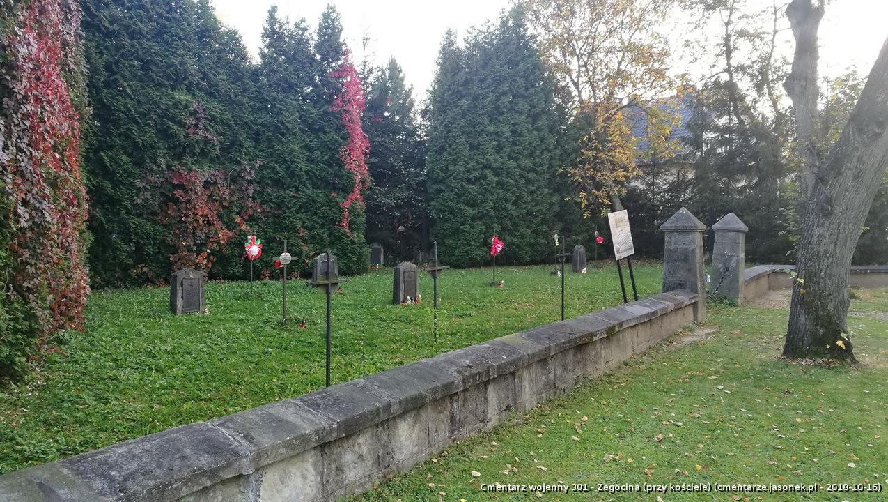 Cmentarz wojenny z I wojny nr 301 - Żegocina (przy kościele)
