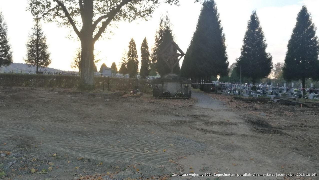 Cmentarz wojenny z I wojny nr 302 - Żegocina (cm. paraf.)