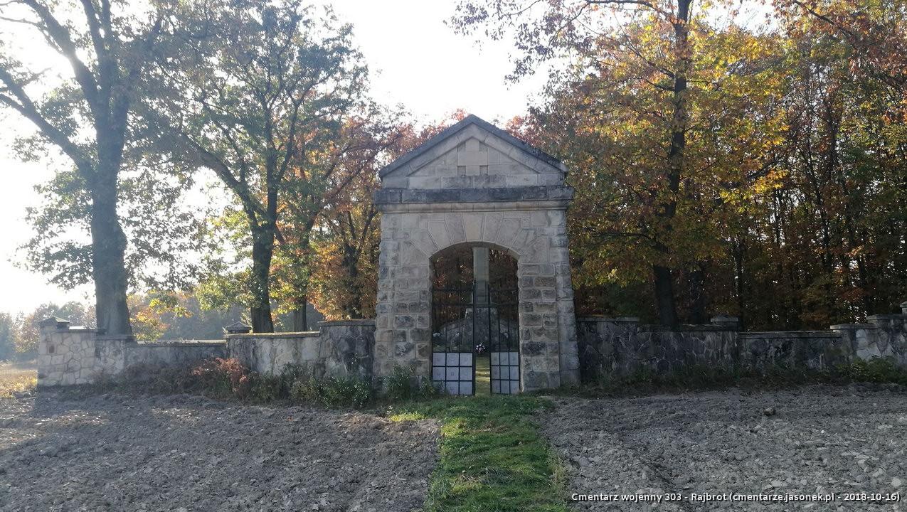 Cmentarz wojenny z I wojny nr 303 - Rajbrot